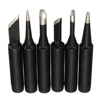 Black Metal Solder Iron Tip 900M-T-0.8D/1.2D/1.6D/2.4D/3.2D/I/K/1.5K/SK/B/SI/1C/2C/3C/4C/5C Welding Head Soldering Station Tool new 10 tip set tips soldering tip set for soldering iron 900 t i bk 1 6d 2 4d 3 0d 2c 3c 4c new