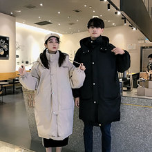 Winter Coat Men Warm Fashion Solid Color Casual Thickening Parka Hooded Man Streetwear Loose Cotton Male Clothes S-2XL
