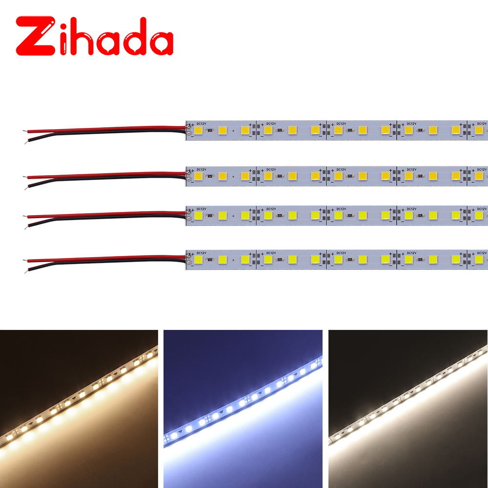 10pcs LED Bar Light SMD 5054 Led Strip Light Aluminium Rigid Strip 25cm 50cm 100cm Led Hard Strip White,Ice Blue,Red,Blue,Green