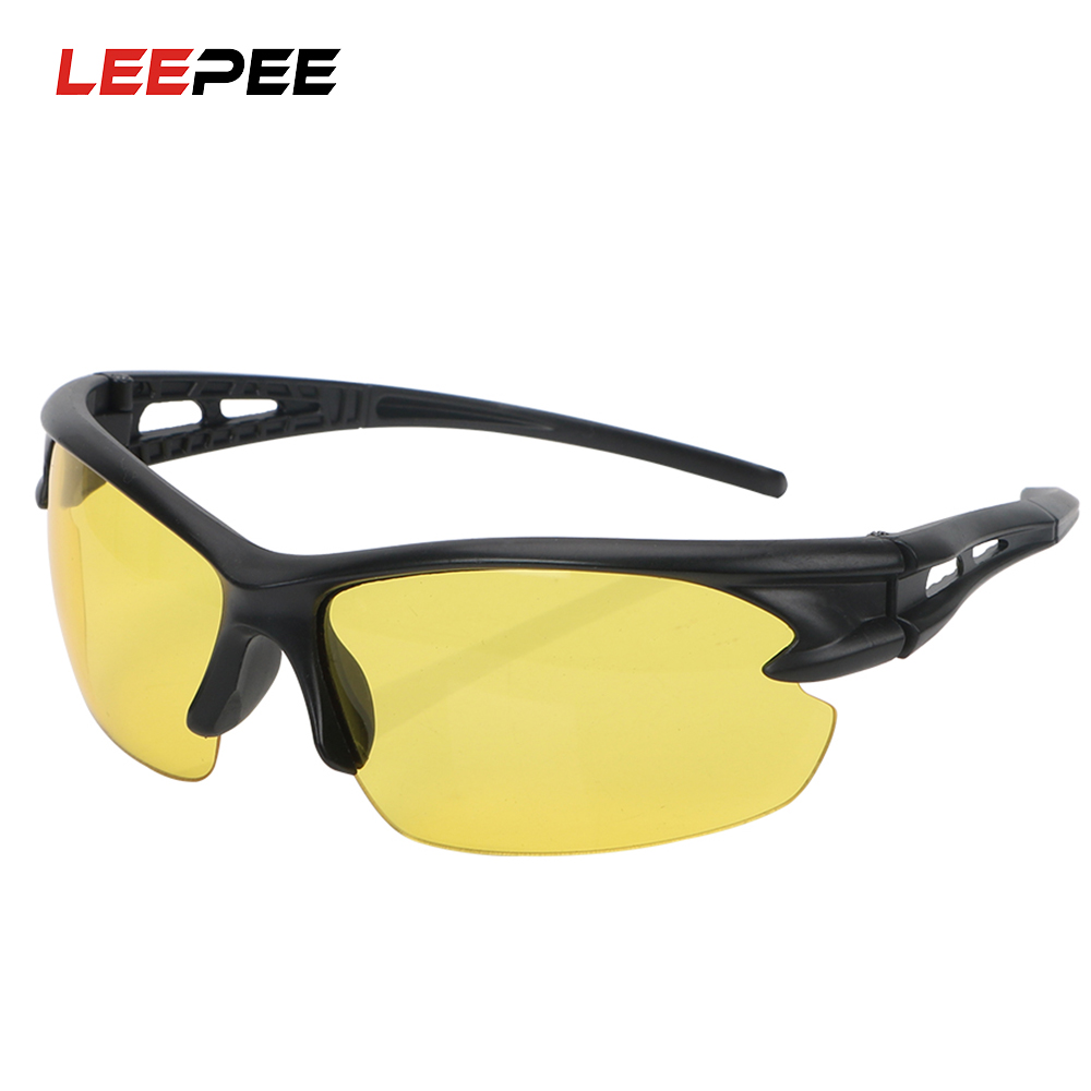 LEEPEE Car Moto Night Vision Glasses Insect Proof Explosion-proof Sunglasses For Outdoor Riding Windproof Plain Glass Spectacles
