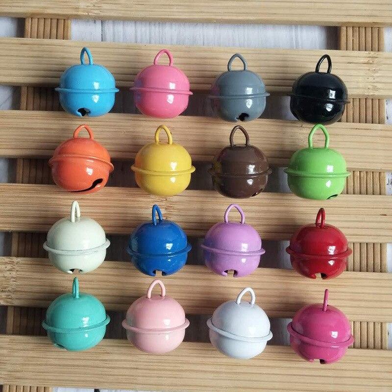 20 pièces coloré fer métal Jingle cloche décorations de noël décoration pour animaux pendentifs bricolage artisanat accessoires faits à la main 22mm C1345 a