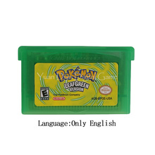 Pour la carte de Console de cartouche de jeu vidéo de Nintendo GBA série à feuilles vert anglais/italien/allemand/français/espagnol