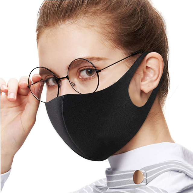 6 Pcs N95 PM2.5 FPP3 Reuse Black Mouth Mask Anti Dust Mask Activated Carbon Windproof Mouth-muffle Bacteria Proof Flu Face Masks