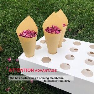 Image 3 - 색종이 콘 홀더 FEESTIGO 자연 꽃잎 색종이 콘 홀더 웨딩 장식 파티 포퍼 콘 스탠드 박스 트레이