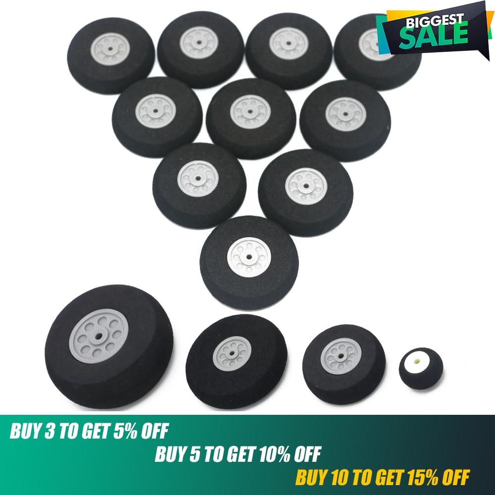 Sponge Tire,10pcs/lot Airplane Wheels 16mm/20mm/30mm/40mm/45mm/50mm/55mm/65mm/75mm/85mm Airplane Sponge Wheels Sponge Tire
