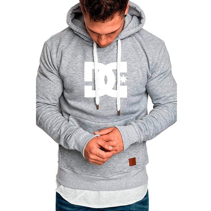 Осень/Зима 2021 мужская толстовка с буквенным принтом DC Мужская толстовка модный теплый уличный мужской повседневный мужской пуловер