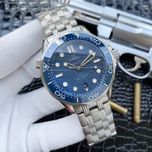 Omega- Luxury Brand Ceramic Bezel Mens AAA Mechanical SS 007 Automatic Movement Men Watch