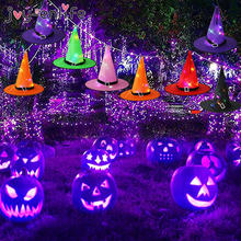 Хэллоуин Светодиодный светящийся ведьмы шляпа косплей вечерние