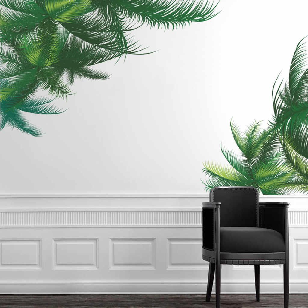 Adesivi murali Albero di Palma Foglia Verde TV Sfondo Soggiorno Decorazione Vegetale Murale di Arte FAI DA TE Salotto di Casa Decalcomanie PVC Poster