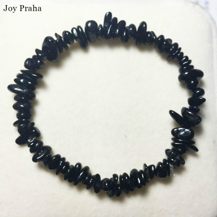 Natural Black Tourmaline Stone Bracelet / Lucky Transit Crystal Bracelet Jewelry / Wholesale Dropshipping