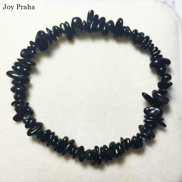 Natural Black Tourmaline Stone Bracelet / Lucky Transit Crystal Bracelet Jewelry / Wholesale Dropshipping