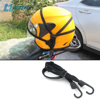60CM kask motocyklowy paski akcesoria motocyklowe haki bagaż chowany elastyczny sznur pasek mocujący kask moto siatka bagażowa tanie i dobre opinie MHSZZAO helmet rope high quality rubber band length about 60cm stretching about 110cm