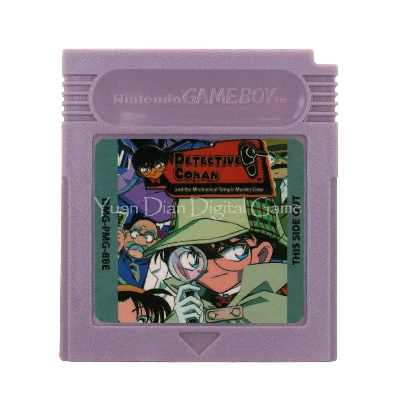 For Nintendo GBC Video Game Cartridge Console Card Detective Conan English Language Version 1