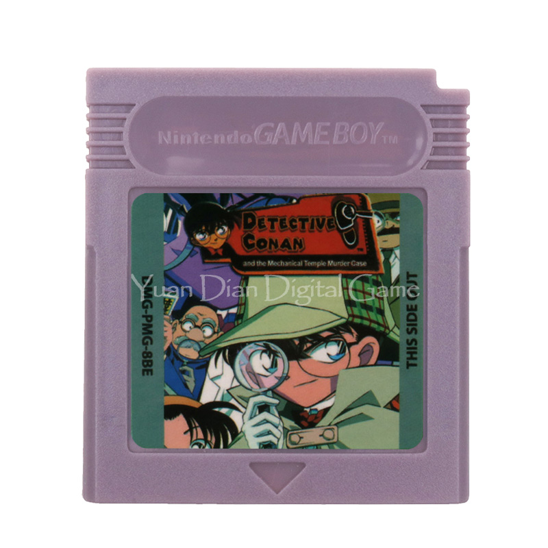 For Nintendo GBC Video Game Cartridge Console Card Detective Conan English Language Version