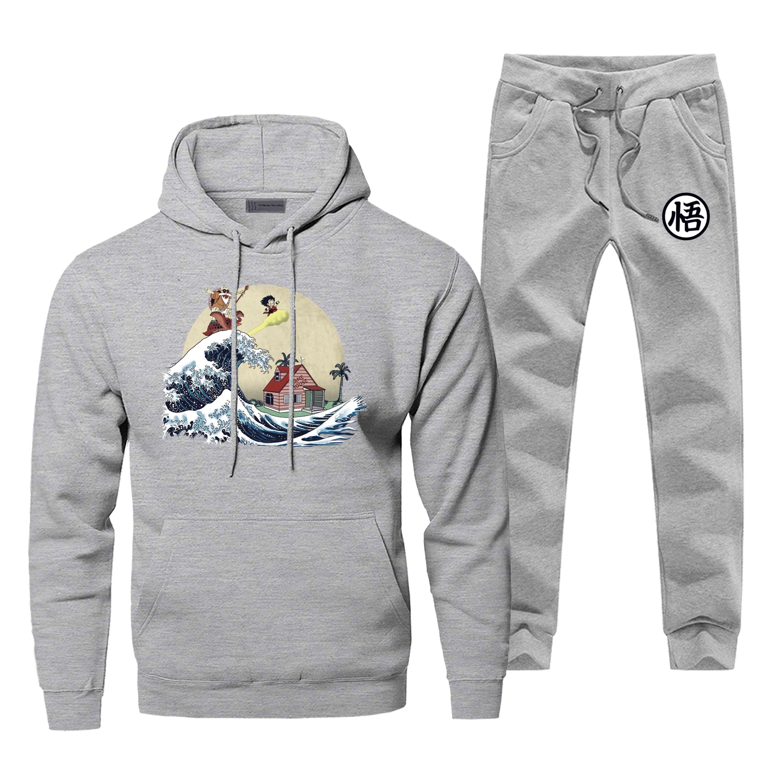 Dragon Ball Sweatshirts Print Cartoon Turtle Dragon Ball Hoodies+pants Two Piece Sets Casual Streetwear Dragon Ball Sportswear