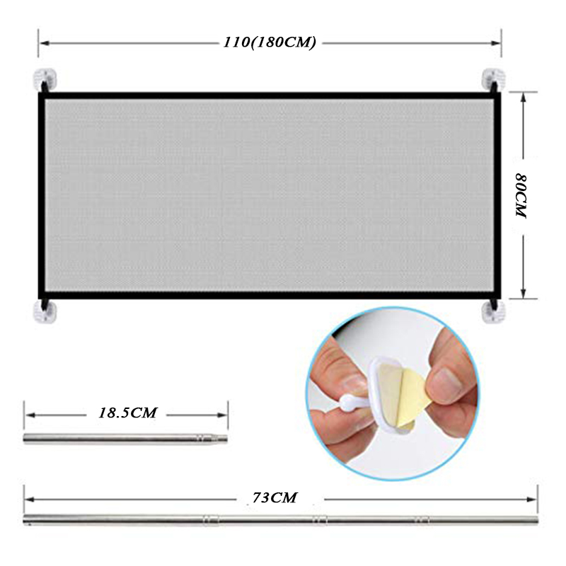 Baby Fencing Gate for Child and pet Safety Protects the Kid and Pet to Enter Unsafe Place in the House 4