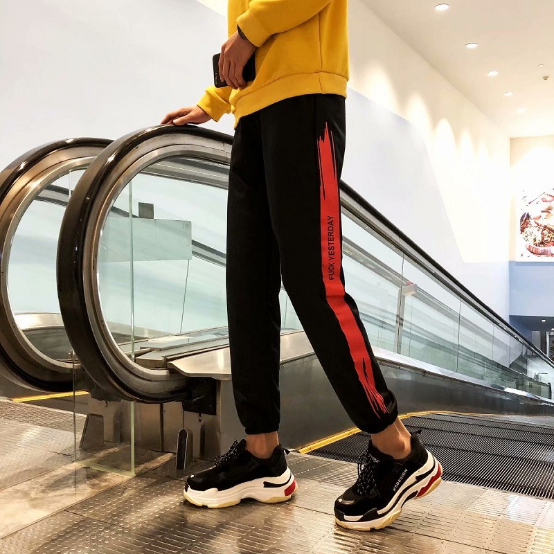 Summer Thin Section Beam Leg Gymnastic Pants Trend Korean-style Slim Fit Youth Fashion Hip Hop Casual Pants Men's