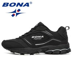 Image 5 - BONA 2019 New Designers Cow Split Running Shoes Men Zapatillas Hombre Deportiva High Quality Men Trainer Sneakers Man Footwear