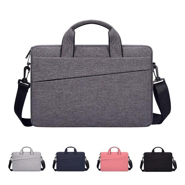 Bolsa impermeable para ordenador portátil, funda para Macbook Air Pro 13 13,3, bolso de hombro, maletín, 14 pulgadas, 15,6, 15,4