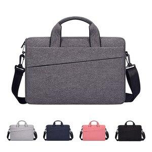 Image 1 - Saco do portátil 13.3 15.6 14 polegada à prova dsleeve água sacos de notebook manga para macbook ar pro 13 15.4 caso bolsa ombro maleta capa