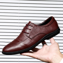 New Fashion Spring Autumn Men Casual Shoes Breathable Lace-Up Flats Wear Comfortable Male Business *8007
