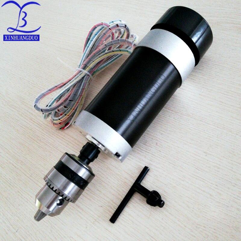 Mandrin de perceuse à moteur 500W | Mandrin de perceuse à moteur sans balais 48VDC, gravure à distance et fraisage, broche refroidie par Air + ventilateur, serrage de bouche Long 1.5 - 10 - 2