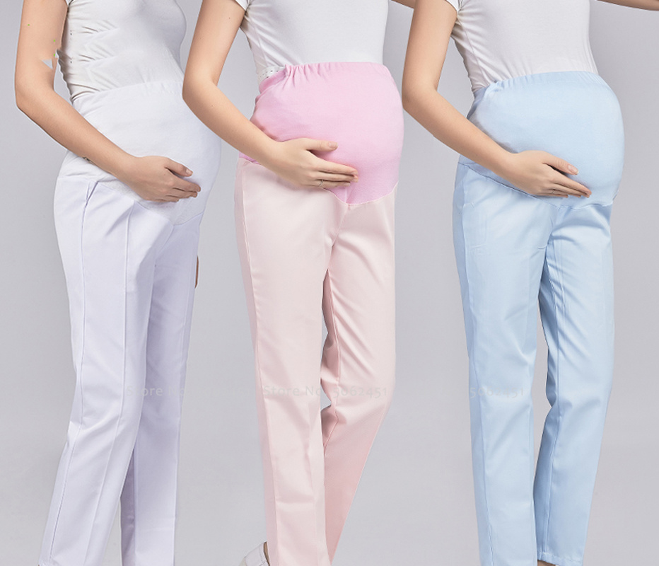 Work Wear Maternity Pants Medical Nurse Scrub Uniforms Carnival Party Festival Cosplay Costumes Winter Pregnant Woman Trousers