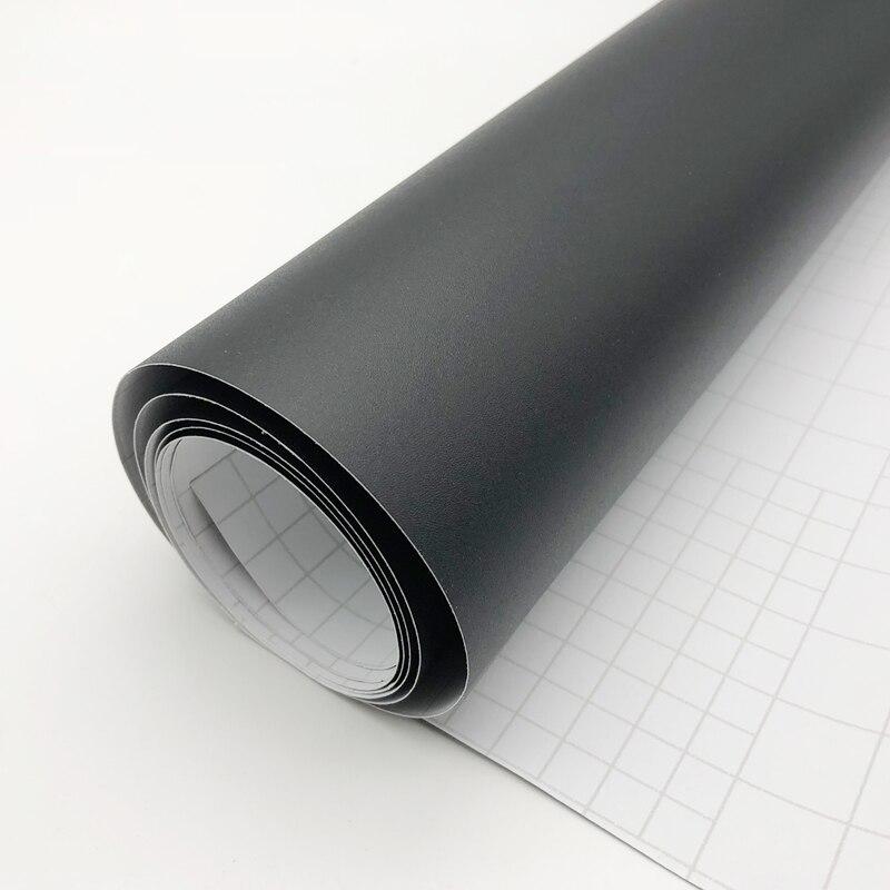 Гибкий черный цвет матовая поверхность винил автомобильная пленка s Авто атласная матовая черная пленка для оклейки машины пленка стикер а...