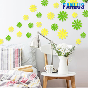 12Pcs/lot 3D Flowers Wall Stickers christmas party decorations for home birthday party decorations kids baby shower boy supplies(China)