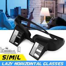Criativo preguiçoso periscópio horizontal leitura de vidro tv sentar vista óculos na cama deitar para baixo prisma óculos vidro inteligente