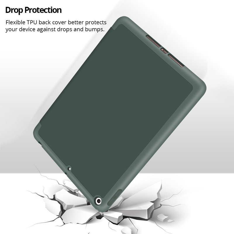 Case for 2019 iPad 10.2 7th 2018 2017 9.7 Mini 4 5 2020 Pro 11 10.5 Air 3 Smart Cover with Pencil Holder iPad 5th 6th Generation-3
