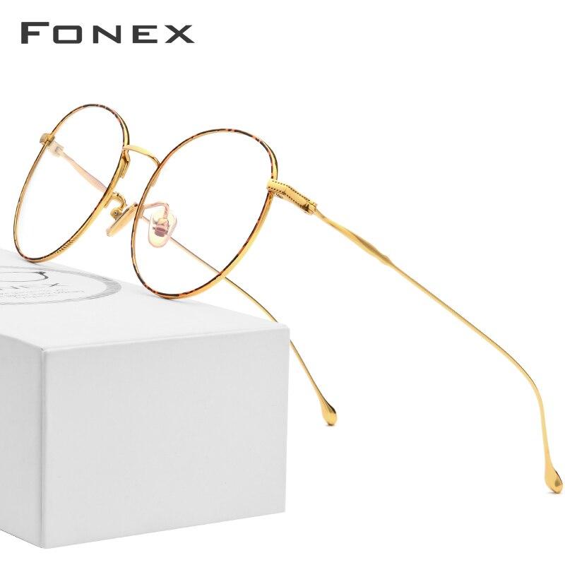 Pure B Titanium Glasses Frame Women 2018 Ultralight Prescription Eyeglasses Men Round Spectacles Myopia Optical Frames