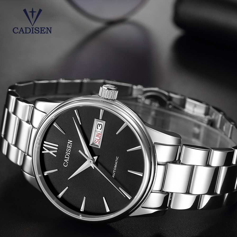 CADISEN 2020 Men's Mechanical Watches For Men Luxury Business Automatic Watch Men Gift Belt NH36A Machine Core Relogio Masculino