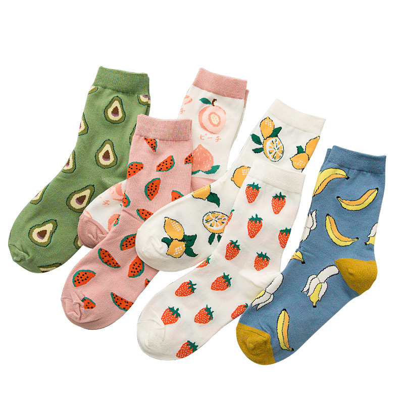 Cute Fruit Pattern Socks Girls Socks Soft And High Quality Short Cotton Socks