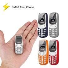 Mini cartão duplo pequeno super do sim do telefone móvel bm10 com mp3 player fm baixa radiação celular voz mágica bluetooth discagem gsm
