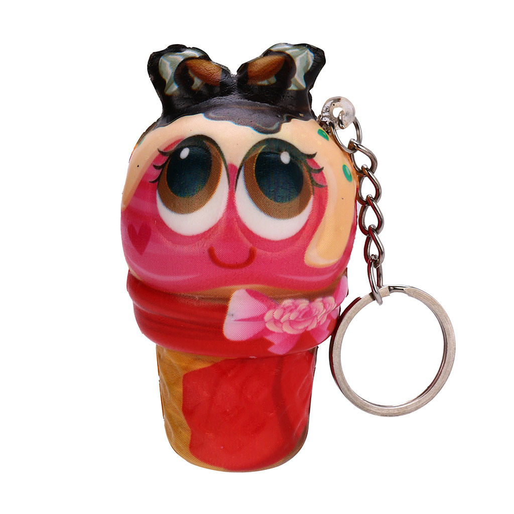 Ice Cream Doll Pendant Lanyard Keychain Gadgets Scented Charm Slow Rising Fun Collection Stress Reliever Toys #A