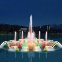 Pływające fontanna muzyczna zimna mgła krajobrazu sprzęt fontanna urządzeń technicznych wody kurtyny program sterowany fontanna tanie tanio HOYB04 Metal