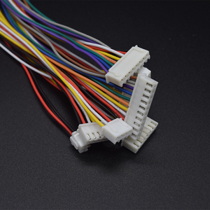 Passo terminal 2.54mm 2/3/4/5/6/7/8/9/10 pinos 300mm fio 26awg 10 pairs xh2.54 jst fio conector do fio xh