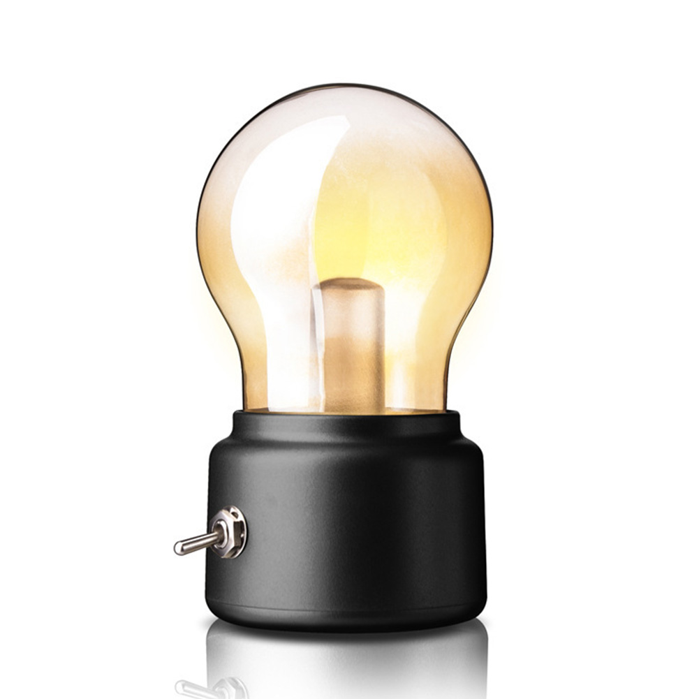 European Style Gifts USB Rechargeable Vintage With Switch Home Decor Party Bedroom Bars Portable LED Night Light