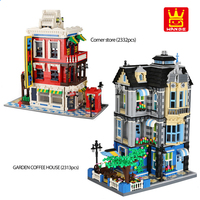 The Garden Coffee House Building Blocks Corner Store City Architecture Street View Bricks Classic Model Toys Gift For Children