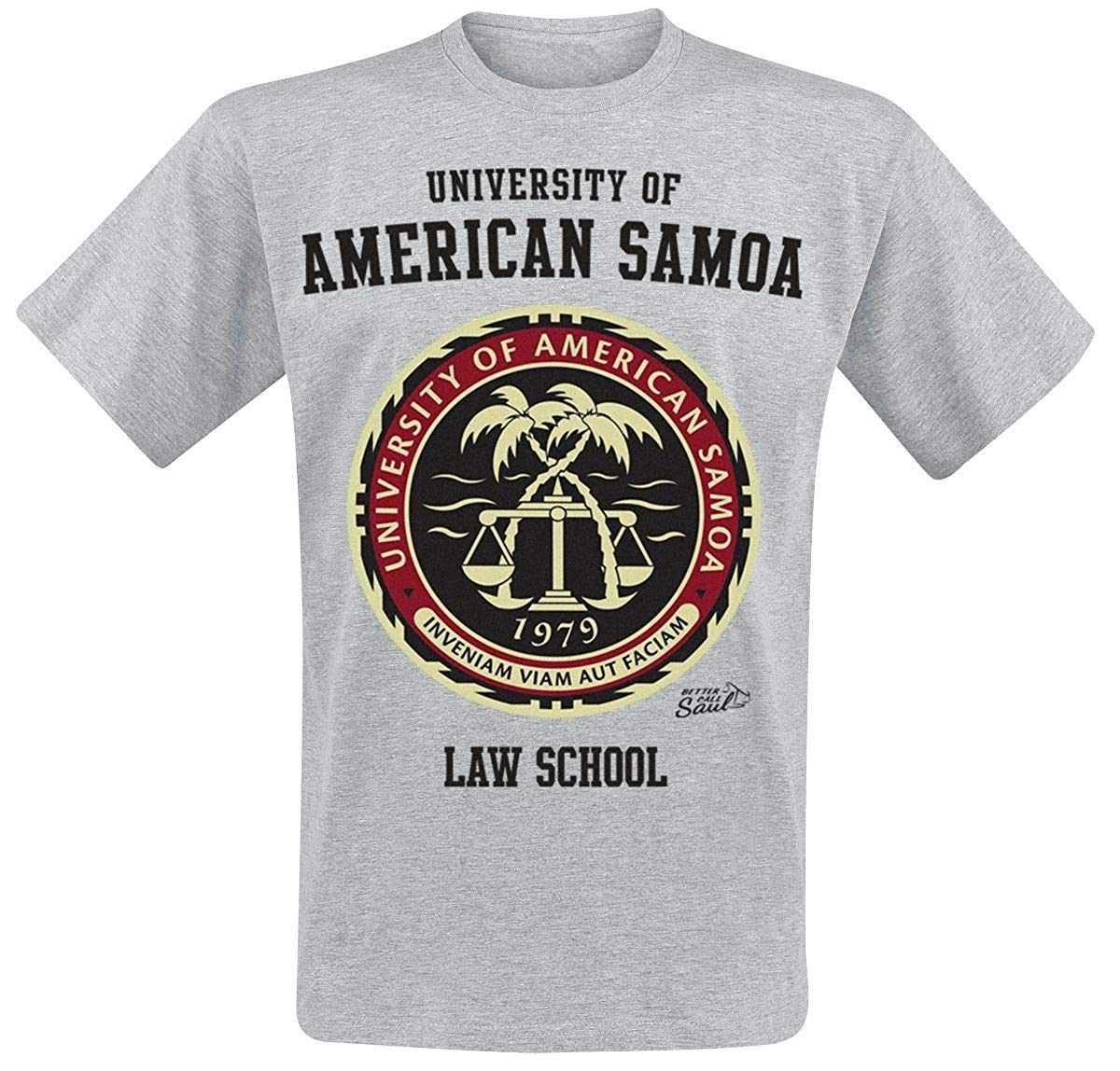Better Call Saul T Shirt American Samoa Law School Official Mens Hyper Grey image