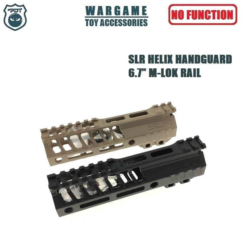 "6.7"" SLR HELIX Rail M-Lok AR Handguard For Toy Water Gel Ball Blaster Airsoft AEG GBB"