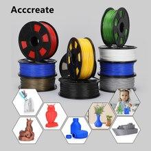 Acccreate 1 кг/2 кг/4 кг/8 кг 1,75 мм PLA Синтетическая нить 3D печати для Creality Ender 3 Pro CR-10S V2 CR-6 SE Anycubic Мега X FDM 3D-принтеры