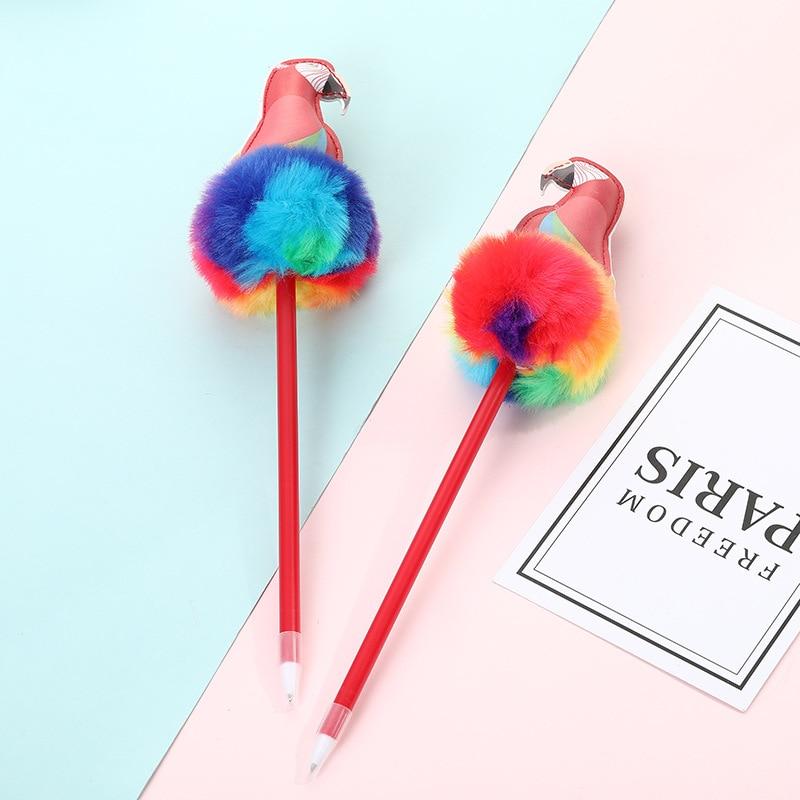 12PCS Creative Color Parrot Cartoon Gel Pens Cute Student Office Stationery Kawaii School Supplies