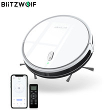 BlitzWolf BW-VC3 2 en 1 aspirateur robot intelligent Sweep Mop 1600Pa Strong Suction APP Remote Voice Control Smart Cleaning Robot Gyroscope Navigation Home Dry Wet Sweeping Vacuum Cleaner