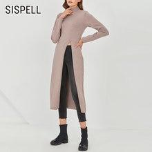 Женский Повседневный пуловер sispell Однотонный свитер с высоким