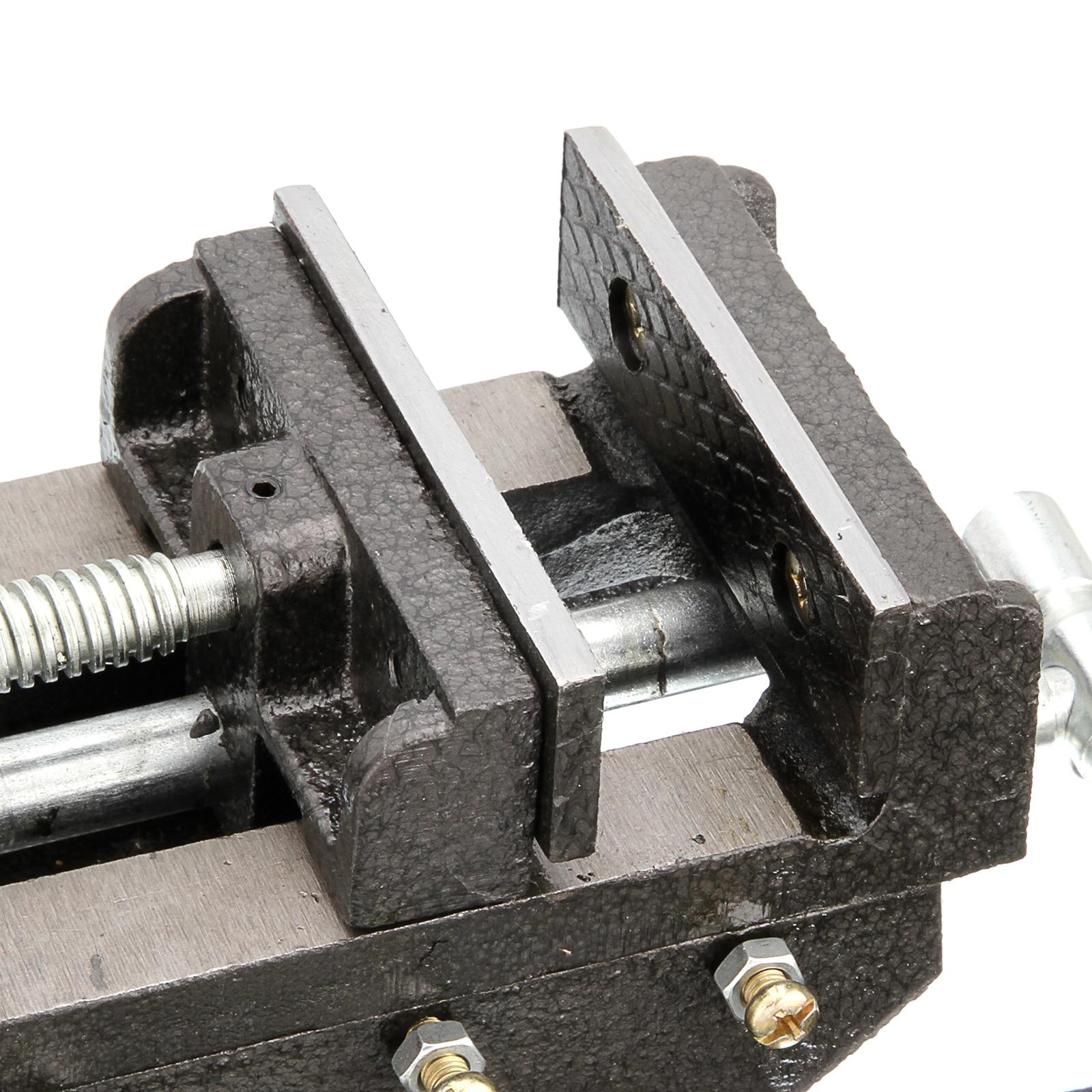 "Купить с кэшбэком 100mm/4"" Cross Sliding Drill Press Vice Machine Vice Hand 2 Way Clamp Vise"