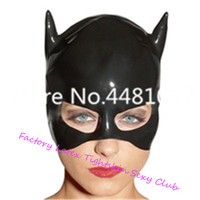 Latex Mask Rubber Unisex Hood Cosplay Cat woman Rubber Fetish Cosplay Mask Latex Headgear Customized XS XXL marshmello helmets