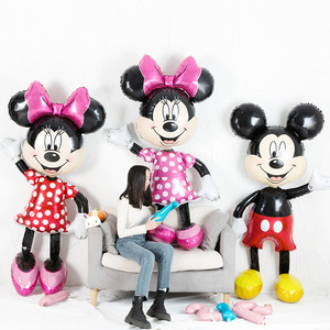 Mickey Minnie Mouse Foil Balloons 112cm Cartoon Balons Birthday Party Decoration Kids Baby shower Party Toys balons Ball Globos(China)