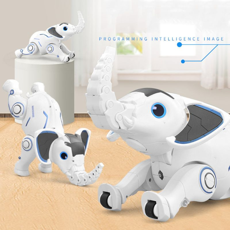 Remote Control Robot Children's Toy RC Intelligent Flying Elephant Electric Will Walk Upside Down Sing Dancing Elephant Toy image